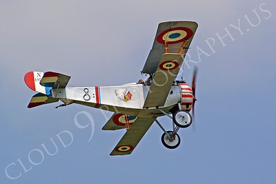 WWI - Nieuport 17 Scout 00002 An airborne Nieuport 17 Scout World War I era French fighter plane, by Stephen W D Wolf