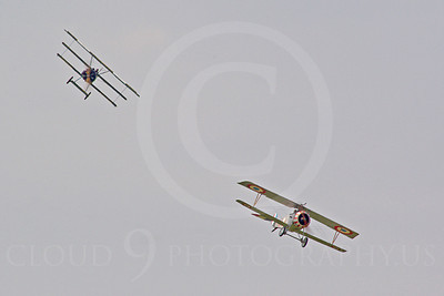 WWI - Nieuport 17 Scout 00007 A World War I German Trifokker prepares to attack a World War I French Nieuport 17, by Stephen W D Wolf