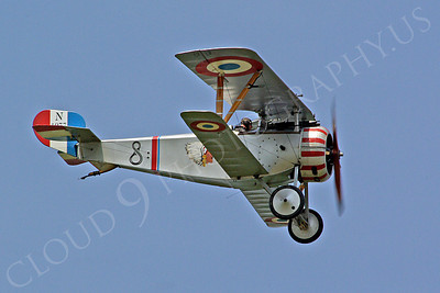 WWI - Nieuport 17 Scout 00009 A Nieuport 17 Scout World War I era French fighter plane warbird in-flight, by Stephen W D Wolf