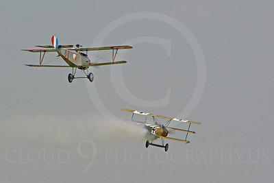 WWI - Nieuport 17 Scout 00011 A Nieuport 17 Scout World War I era French fighter plane attacks a German Trifokker, by Stephen W D Wolf
