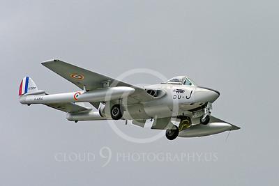 WB - de Havilland Vampire 00016 de Havilland Vampire French Air Force warbird aircraft photo by Stephen W D Wolf