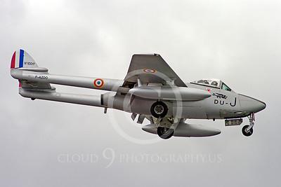 WB - de Havilland Vampire 00018 de Havilland Vampire French Air Force warbird aircraft photo by Stephen W D Wolf