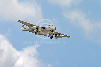 WB - de Havilland Vampire 00014 de Havilland Vampire French Air Force warbird aircraft photo by Stephen W D Wolf