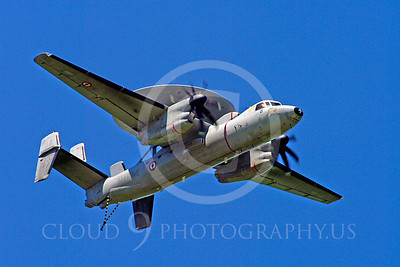 E-2Forg 00002 Grumman E-2 Hawkeye French Navy military airplane picture by Stephen W D Wolf