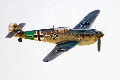 WB - Bf-109 00094 Messerschmitt Bf-109 fighter German World War II Luftwaffe by Peter J Mancus
