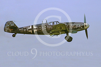 WB - Bf-109 00054 Messerschmitt Bf-109 fighter German World War II Luftwaffe by Stephen W D Wolf