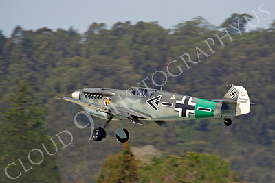 WB - Messerschmitt Bf-109 00018 Messerschmitt Bf-109 German World War II fighter warbird by Peter J Mancus