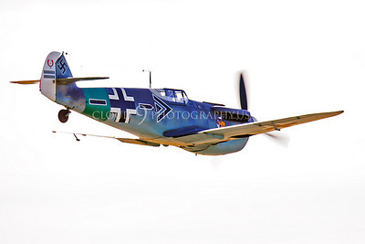 WB - Bf-109 00090 Messerschmitt Bf-109 fighter German World War II Luftwaffe by Peter J Mancus