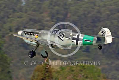 WB - Messerschmitt Bf-109 00102 Messerschmitt Bf-109 German World War II fighter warbird by Peter J Mancus