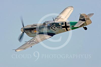 WB - Bf-109 00104 Messerschmitt Bf-109 fighter German World War II Luftwaffe by Peter J Mancus