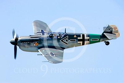 WB - Bf-109 00098 Messerschmitt Bf-109 fighter German World War II Luftwaffe by Peter J Mancus