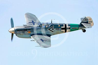 WB - Bf-109 00118 Messerschmitt Bf-109 fighter German World War II Luftwaffe by Peter J Mancus