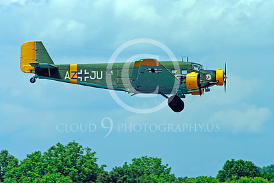 WB - Junkers Ju-52 00016 Junkers Ju-52 German World War II warbird airplane picture by Stephen W D Wolf
