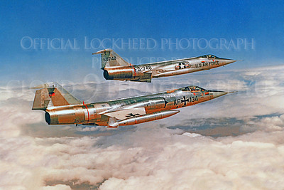 F-104Forg 00006 Lockheed F-104 Starfighter German Air Force KF134 Official Lockheed Aircraft photograph produced by Cloud 9 Photography