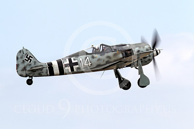 WB - Focke-Wulf Fw 190 00004 A Focke-Wulf Fw 190 German WWII era fighter warbird seen taking off, airplane picture, by Peter J Mancus