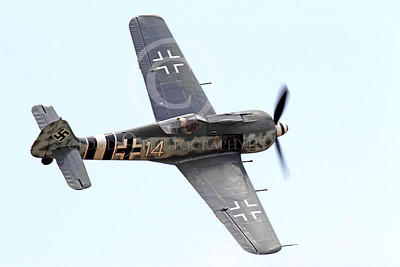 WB - Focke-Wulf Fw 190 00054 A flying Focke-Wulf Fw 190 German WWII era fighter warbird airplane picture, by Peter J Mancus