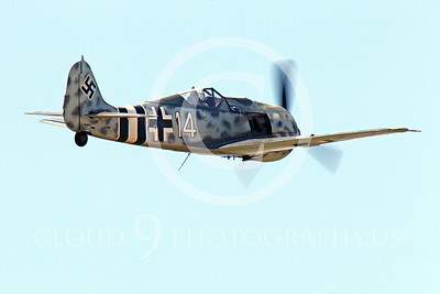 WB - Focke-Wulf Fw 190 00016 A flying Focke-Wulf Fw 190 German WWII era fighter warbird airplane picture, by Peter J Mancus
