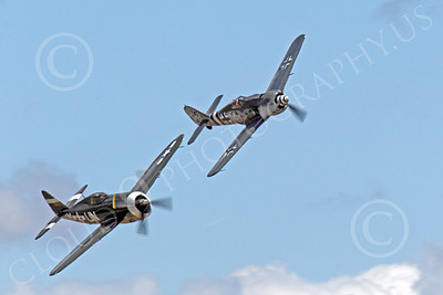WB - Focke-Wulf Fw 190 00062 Two great WWII era fighters--an American P-47 Thunderbolt and a German Focke-Wulf Fw 190, airplane picture, by Peter J Mancus