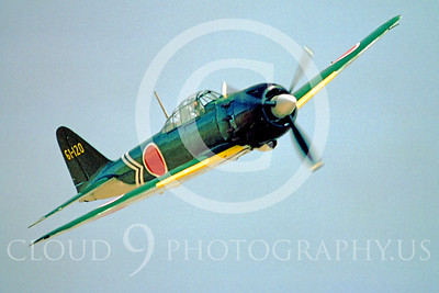 WB - Mitsubishi A6M Zero 00092 Mitsubishi A6M Zero Japanese World War II fighter by Peter J Mancus