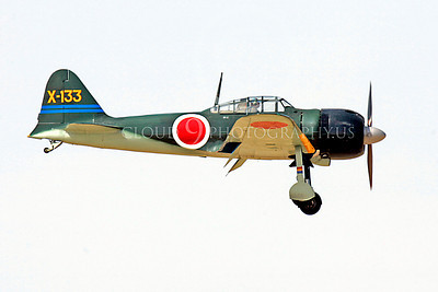 WB - Mitsubishi A6M Zero 00102 Mitsubishi A6M Zero Japanese World War II fighter by Peter J Mancus