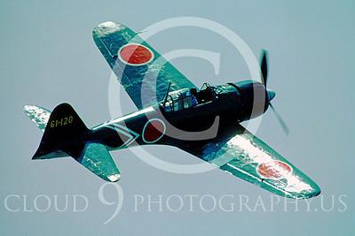 WB - Mitsubishi A6M Zero 00094 Mitsubishi A6M Zero Japanese World War II fighter by Peter J Mancus