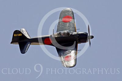 WB - Mitsubishi A6M Zero 00098 Mitsubishi A6M Zero Japanese World War II fighter by Peter J Mancus
