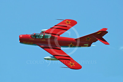 WB-MiG-17UTI 00002 A flying two steat MiG-17UTI jet fighter warbird in Soviet Air Force markings, by Tim Perkins