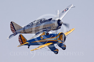 WB - Boeing P-12 Peashooter 00010 Boeing P-12 Peashooter with Republic AT-12 Guardsman by Peter J Mancus