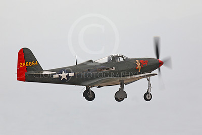 WB - Bell P-63 Kingcobra 00026 A Bell P-63 Kingcobra warbird, Pretty Polly, takes-off, by Peter J Mancus