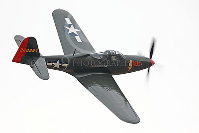 WB - Bell P-63 Kingcobra 00024 A Bell P-63 Kingcobra warbird, Pretty Polly, turns in flight by Peter J Mancus
