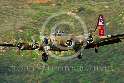WB - B-17 00004 Boeing B-17 Flying Fortress US Army Air Corps World War II heavy bomber by Peter J Mancus