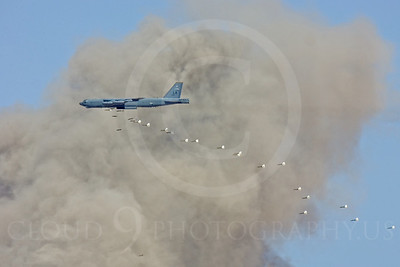 OR 00011 A Boeing B-52 Stratorfortress drops bombs, by Peter J Mancus