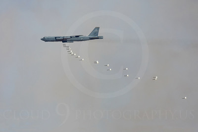 OR 00020 A USAF Boeing B-52 Stratofortress drops bombs, by Peter J Mancus