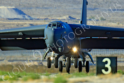 B-52 00240 Boeing B-52H Stratofortress USAF Nellis AFB by Peter J Mancus