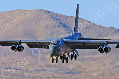 B-52 00180 Boeing B-52H Stratofortress USAF Nellis AFB by Peter J Mancus