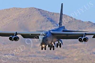 B-52 00180 Boeing B-52H Stratofortress USAF Nellis AFB by Peter J Mancus