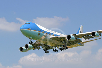 VC-25A 00030B USAF Boeing VC-25A VIP Air Force One military airplane picture, by Tim Perkins 01