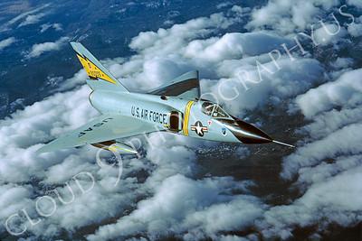 F-106USAF 00060 Convair F-106A Delta Dart USAF 90005 5th FIS Spitten Kittens February 1984 by Peter J Mancus