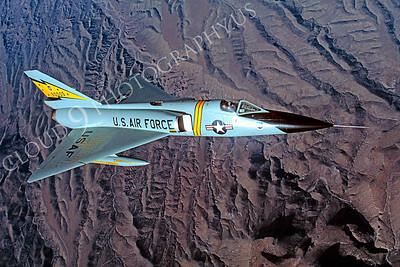 F-106USAF 00114 Convair F-106A Delta Dart USAF 90005 5th FIS February 1984 by Peter J Mancus