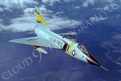 F-106USAF 00056 Convair F-106A Delta Dart USAF 90005 5th FIS Spitten Kittens February 1984 by Peter J Mancus