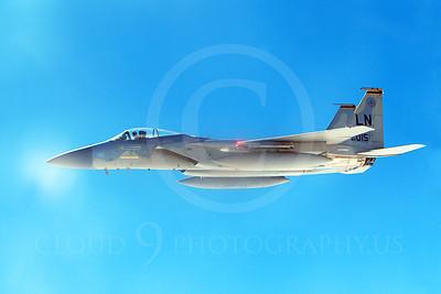 F-15USAF 00328 A USAF McDonnell Douglas F-15 Eagle jet 84015 LN code MiG KILLER, by Peter J Mancus