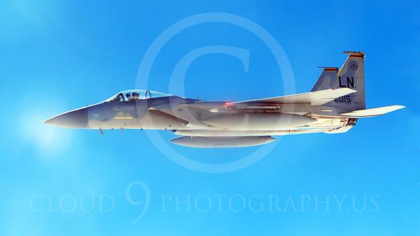 F-15USAF 00232 A USAF McDonnell Douglas F-15 Eagle jet 84015 LN code MiG KILLER, by Peter J Mancus