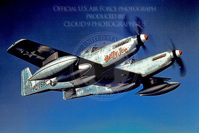 F-82 00004 Betty Joe, a flying USAF North American F-82 Twin Mustang, PQ-168, military airplane picture, Official USAF Picture