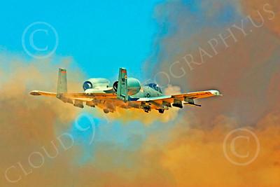 A-10USAF 00236 Fairchild Republic A-10 Thunderbolt II firing canon by Peter J Mancus