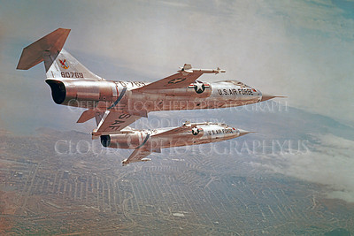 F-104USAF 00014 Lockheed F-104 Starfighter USAF 60769 Air Defense Command Official Lockheed Aircraft photograph produced by Cloud 9 Photography