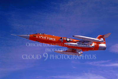 F-104USAF 00032 Lockheed QF-104 Starfighter USAF 52957 Official Lockheed Aircraft photograph produced by Cloud 9 Photography