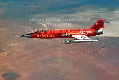 F-104USAF 00028 Lockheed QF-104 Starfighter USAF 52957 Official Lockheed Aircraft photograph produced by Cloud 9 Photography