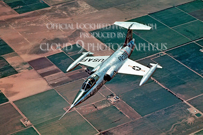 F-104USAF 00016 Lockheed F-104 Starfighter USAF Official Lockheed Aircraft photograph produced by Cloud 9 Photography