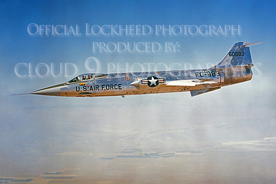 F-104USAF 00024 Lockheed F-104 Starfighter USAF 60883 Official Lockheed Aircraft photograph produced by Cloud 9 Photography