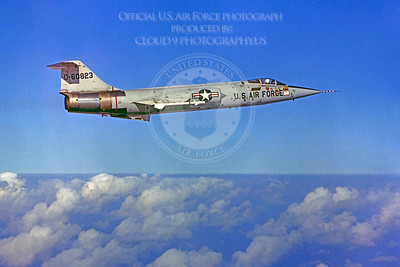 F-104USAF 00026 Lockheed F-104 Starfighter USAF 60823 Official USAF photograph produced by Cloud 9 Photography